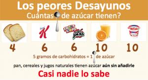 alimentos con azúcar