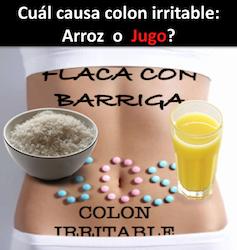 Dieta para higado graso y colon inflamado