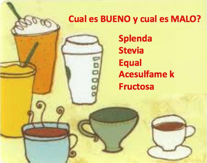 Splenda, Equal, Stevia o Fructosa: cual es BUENO y cual es